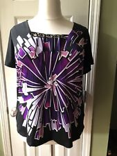 purple ESSENTIALS plus size blouse shirt size 1X