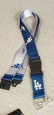 Dodgers Lanyard  Keychain Reversible Break-Away safety clip  Nylon