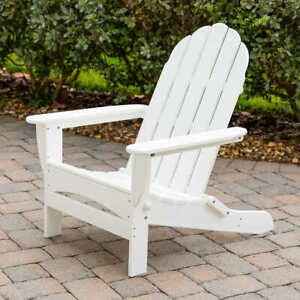 Adirondack Chair by Leisure Line WHITE NEW FREE SHIPPING