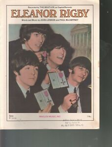 Eleanor Rigby 1966 The Beatles Sheet Music