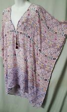 """Bleu by Rod Beattie Multi color Cover Up Caftan Knee Length  Size Large 50"""" Bust"""