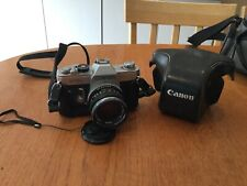 Canon FTb QL Camera With 50 mm Lens 1:1.8 and Original Leather Case Instruction