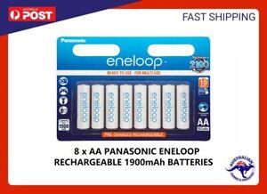 8x Panasonic Eneloop rechargeable NiMH AA batteries 2020 Stock Made in Japan New