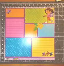 "scrapbook paper 12"" Dora the Explorer Boots Nickelodeon  retired ek success 25p"