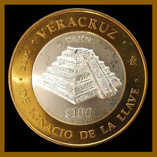 Mexico 100 Pesos Silver Center Coin, 2007 Bimetallic El Tajin Unc