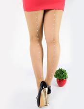 Collants résilles chair couture trait ligne strass crystal burlesque sexy pinup