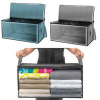 New Non-Woven Foldable Organizer Box Closet Clothes Storage Portable  Home Decor