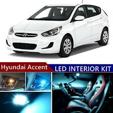 9pcs LED ICE Blue Light Interior Package Kit for Hyundai Accent 2015-2016
