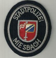 Polizei BAYERN Stadtpolizei  MIESBACH  Abzeichen handgest. Patch StaPo 60er J.