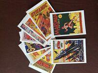f1f postcards x 10 1992 comic book covers unused