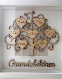 PERSONALISED Grandchildren Family Tree Frame Mum Nan Birthday Gift Keepsake