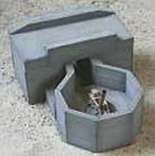 MGM 070-010 1/72 Resin WWII German Bunker-12cm Launcher 42/2