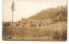 Oregon-Clackamas Rifle Range-Military Training Camp-Soldiers-Real Photo-Postcard