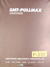 Pullmax EKP-M, 70 Edging Press, Operations and Maintenance Manual 1981