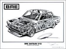 "Datsun 510 Cut-away print Signed by Peter Brock BRE! (18"" x 24"")"