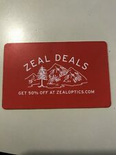 Zeal Deals 50% off Discount Card for Sunglasses or Goggles on ZealOptics.com