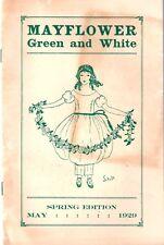 Mayflower School-May1929 Green & White Student Publication-New Rochelle, NY