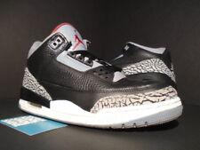Nike Air Jordan III 3 Retro BLACK FIRE RED CEMENT GREY WHITE 136064-010 OG 8