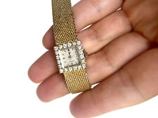 1965 Vintage Omega Ladies Gold Watch with Diamonds. Restored and running.