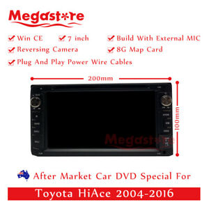 "7"" Car DVD GPS Head Unit Player Stereo Radio Navigation For Toyota HiAce"