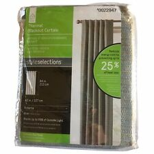 """StyleSelections Roberta 42""""W X 84""""L Blue Thermal Blackout Curtain Panel 0022947"""