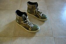 Lanvin Paris HI-TOP Suede Leather Sneakers Shoes Scarpe 43(9)Made in Italy, RARE