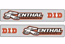 Swingarm Motocross Graphic Sticker Logo Adhesive Decal DID RENTHAL 2 Pcs