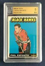 PHIL ESPOSITO 1965-66 TOPPS ROOKIE CARD NO 116 ACA 5 EX                    42667