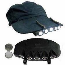 5 LED Cap Hat Brim Clip Lamp Head Light Headlight Headlamp Camping Night Fishing