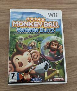 Super Moneky Ball Banana Blitz Nintendo Wii Game Boxed With Manual PAL