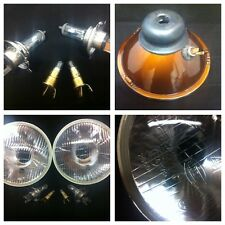 "CLASSIC MINI HALOGEN HEADLIGHT LAMP CONVERSION KIT PAIR 7"" AUSTIN ROVER 6J1"