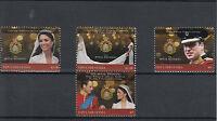 Papua New Guinea 2011 MNH Royal Wedding 4v Set Prince William Kate Middleton