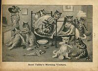 LOUIS WAIN CATS AUNT TABBY'S MORNING VISITORS KITTENS MATTRESS LOUIS WAIN CAT