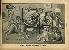 LOUIS WAIN CATS AUNT TABBY'S MORNING VISITORS KITTENS MATTRESS LOUIS WAIN CAT