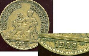 2 francs 1922 CHAMBRE DE COMMERCE ( les 2  fermé )   ( bis )