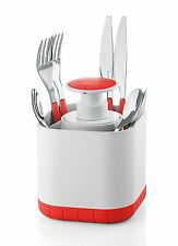 NEW Guzzini My Kitchen Silverware Drainer Caddy with Removable Soap Dispenser,