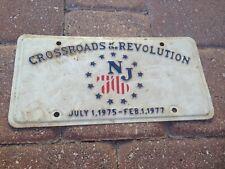 Vintage Crossroads of the Revolution NJ 76 License Plate July 1, 75 - Feb 1, 77