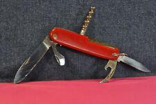 """Solingen"" Rostfrei Red&Stainless Steel German Multi-tool  Pocket Knife c.1951's"
