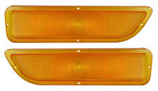 1962-1966 GMC Pickup Truck Parking Light Lens Amber Orange Pair