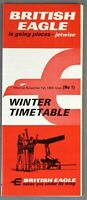 BRITISH EAGLE AIRLINE TIMETABLE WINTER 1966 NO 1 INTERNATIONAL AIRLINES