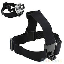 AU_ Durable Chic Head Strap Mount Belt Elastic Headband For GoPro GO PRO HD Hero