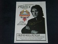 DENNY LAINE WINGS PAUL McCARTNEY  SIGNED POSTER