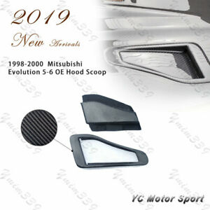 Carbon Fiber OE Hood Scoop For 1998-2000 Mitsubishi Evolution EVO 5 EVO 6