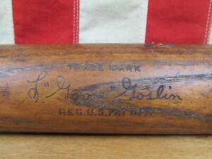 "Vintage 1920s Louisville Slugger Wood Baseball Bat L.Goose Goslin HOF 34"" Rare!"