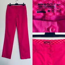 Ladies Nike Golf Tour Performance Dry Fit Pink Activewear Sport Trousers Size 8
