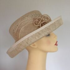 Ladies Occasion Wedding Races Mother of the Bride Hat Cream
