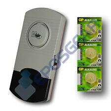 Minder Thin Window Glass Vibration Security Burglar Alarm Shed w/Spare Batteries