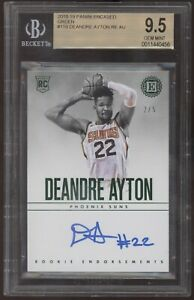 2018-19 Panini Encased DeAndre Ayton Endorsements Green RC Auto /5 BGS 9.5 10