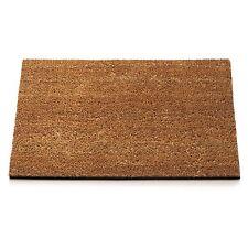 Anti Slip Entrance Floor PVC Doormats Natural Coir Front Door Mats 45 x 75cm