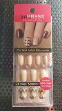 Broadway Nails ImPRESS Press On Manicure Tan Glitter Short Length New